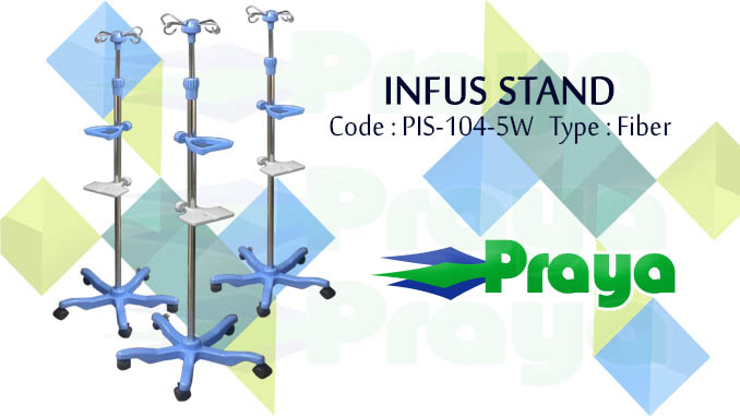 Tiang infus stainless